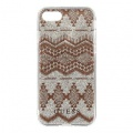 GUHCP7TGTA Guess Ethnic Chic Tribal 3D TPU Pouzdro Taupe pro iPhone 7/8