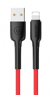 USAMS SJ259 Datový Kabel Lightning 1.2M Red (EU Blister)